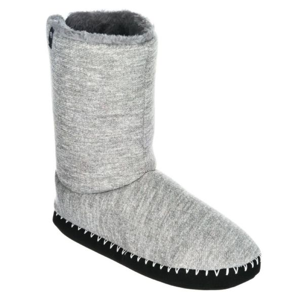 Animal Womens Slippers Boots.bollo Grey Textile Faux Fur